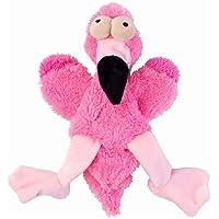 FuzzYard Flat Out Nasties Flo The Flamingo Dog Toy