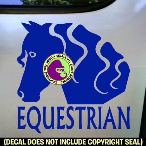 EQUESTRIAN SIDE FACE VIEW Vinyl Decal Sticker B