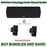 Definitive Technology ProCenter 1000 Compact Center Speaker (Black) & Definitive Technology Pro-Mount 90 - Pair (Black)