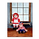 Raggedy Ann And Andy by Arie Reinhardt Taylor, 14x19-Inch Canvas Wall Art
