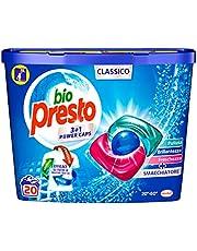 Bio Presto Bio Presto Power Caps Classico, voorgedoseerd wasmiddel in capsules, verpakking met 20 wasbeurten – 260 g