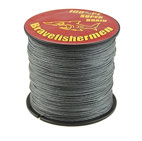 GRAY 1000m super strong PE braided fishing line 10LB to100LB