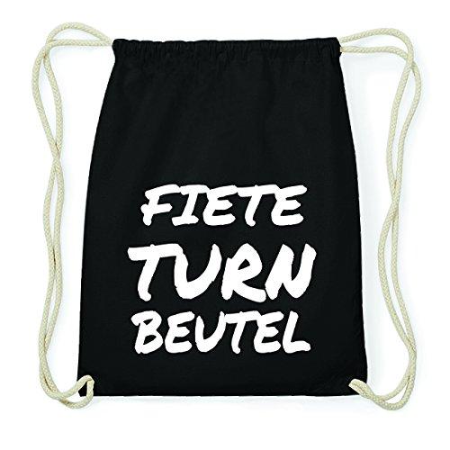 JOllify FIETE Hipster Turnbeutel Tasche Rucksack aus Baumwolle - Farbe: schwarz Design: Turnbeutel