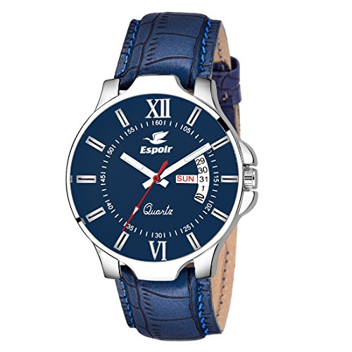 Espoir Analogue Blue Dial Day and Date Boy's and Men's Wat