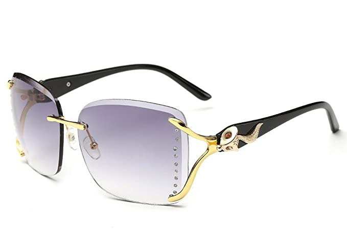 KINGSEVEN - Gafas de sol - para mujer gris Black Frame Gray ...