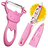 1 X Pink Hello Kitty Fruit Parer Slicer and De-corer Cartoon Fruit Knife
