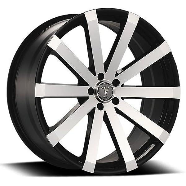 Amazon Com 26 Inch Velocity Vw12 Wheels Rims Tire Package Black Machine Face Will Fit Chevy Tahoe Silverado Gmc Yukon Sierra Cadillac Escalade Nissan Titan Armada Infiniti Qx56 Automotive