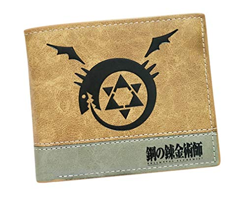 YOYOSHome Japanese Anime Cosplay Short Purse Wallet Clip Billfold (Fullmetal Alchemist 2)