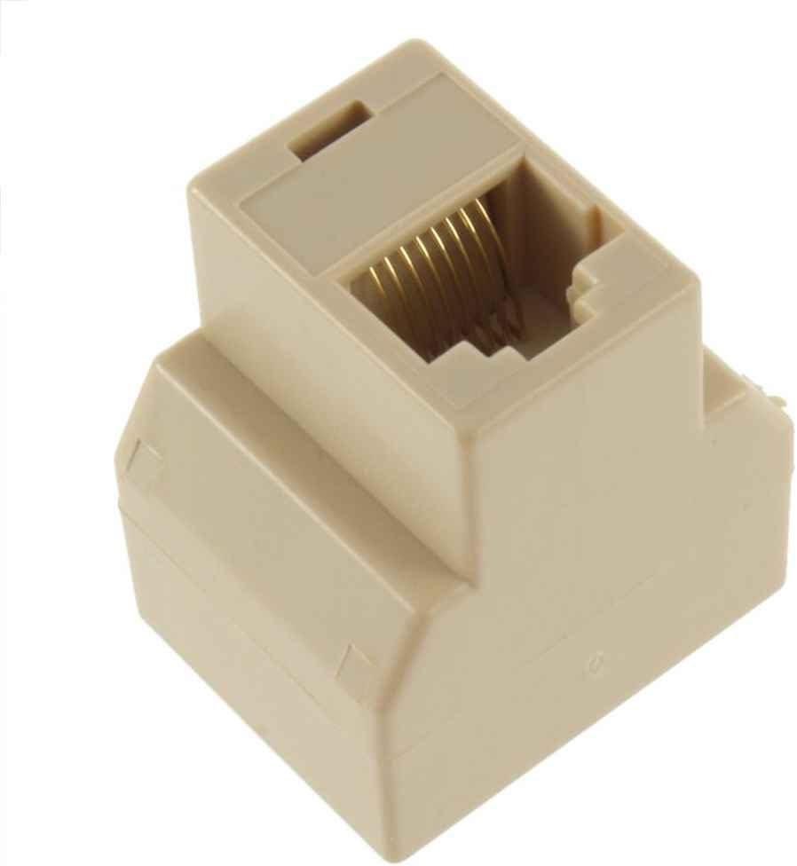 1 Female to 2 Female RJ-45 LAN Ethernet Splitter Network Connector Adapter PC Three Socket