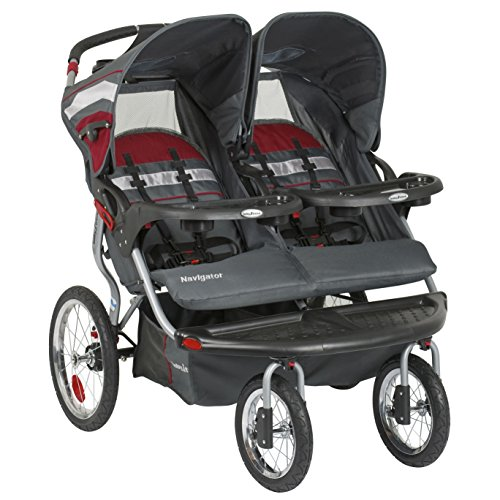 Car Seat Compatible Double Jogging Stroller - 9