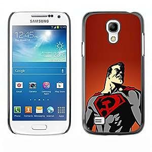 KOKO CASE / Samsung Galaxy S4 Mini i9190 MINI VERSION! / superhéroe cabo volando dibujo del cartel del arte / Delgado Negro Plástico caso cubierta Shell Armor Funda Case Cover