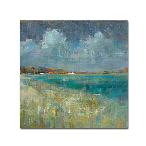 Sky and Sea Crop by Danhui Nai, 35x35-Inch Canvas Wall Art