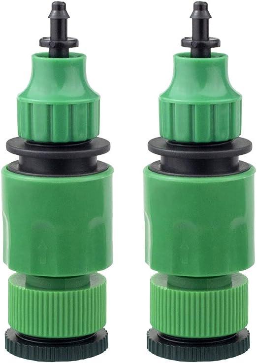 begrit Manguera de jardín One Way adaptador de conector para grifo de para el riego 2-Pack: Amazon.es: Jardín