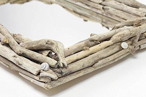 Home Comforts LAMINATED POSTER White Mirror Wooden Decor Dri