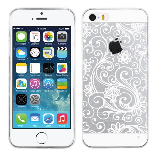 MyBat APPLE iPhone 5s/5 Four-Leaf Clover Candy Skin Cover - Retail Packaging - White