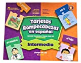 Spanish Intermediate Vocabulary Puzzle Card Set