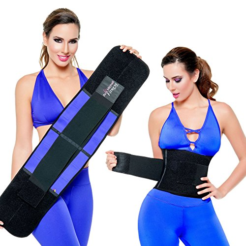 16968a44e277f ANN MICHELL 4025 FITNESS THERMO LATEX XTREME POWER BELT BODY SHAPER GYM  TRAINER BLUE LARGE - Buy Online in KSA. Apparel products in Saudi Arabia.