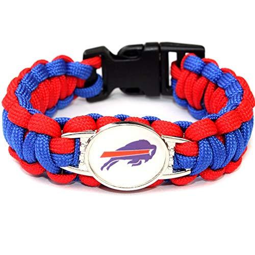 GProductsNet NFL Buffalo Bills Paracord Bracelet for Women & Men - Paracord Survival Strap Bracelet (Survival Charm Bracelet)