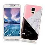Samsung Galaxy S4 Case XiaoXiMi Marble Texture Cover Soft Flexible TPU Silicone Shell Ultra Slim Lightweight Phone Skin Protective Back Cover Antiscratch Antishock Bumper for Samsung Galaxy S4 - Geometric