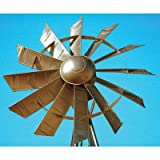 Outdoor Water Solutions Customized Windmill Aeration System - 20ft. Bronzed Windmill, Model# PCW0021