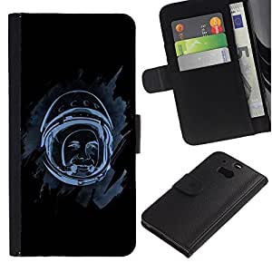 UNIQCASE - HTC One M8 - Space Astronaut - Cuero PU Delgado caso cubierta Shell Armor Funda Case Cover