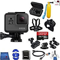 Gopro Hero 5 Black 13 Piece Into The Wild Bundle Includes: Go Pro Hero5 Black + Case + Floaty Bobber + Chest Strap + Glove Mount + More