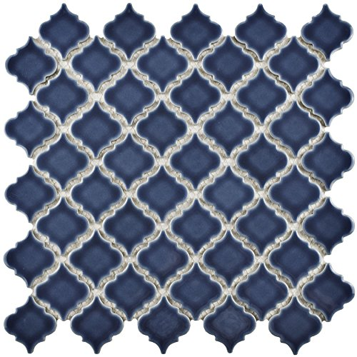 SomerTile FKOLTR41 Tinge Porcelain Mosaic Floor and Wall Tile, 12.375