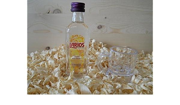 Botellin miniatura Ginebra Larios con vasito chupito - Pack de 6 ...