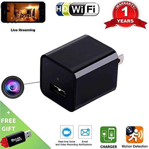 51IUOO1IgzL - Spy Camera Wireless Hidden -Indoor USB Wall Charger Camera-Nanny Cam-Wifi Hidden Camera-Plug In Camera With Motion Detection -For Home/kids/Pets Security