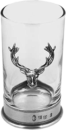 Molto alta qualità pewterware Stag 12oz Bicchiere da whisky