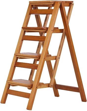 STOOL Sencillo Multifuncional Plegable Heces, Escalera Plegable de Madera de Escalada Paso Doble Uso Presidente Guardarropa Cocina Cuarto Paso a Paso de Escalera Regalo,Si,67X42X92Cm: Amazon.es: Bricolaje y herramientas