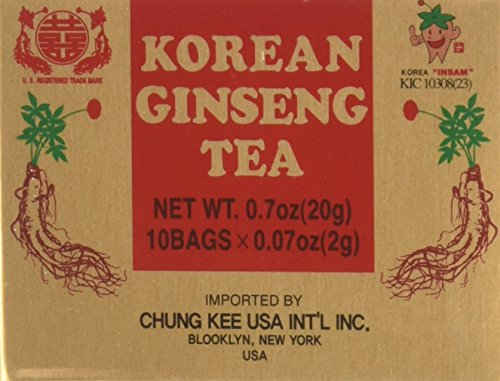 Korean Ginseng Tea - INSTANT KOREAN GINSENG TEA 100 Tea Bags - NET WT 7 oz (200 g)