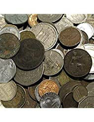 Premium World Coins Collection. Half Pound of Unsearched Coins from Around the World (About 50 Coins) with New and Old Coins In a Vx Investments Pouch