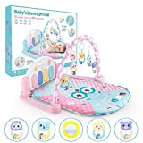 AA-fashion Kids Baby Rattle Fitness Rack Pedal Piano Multifunctional Music Game Blanket Toy for Newborn