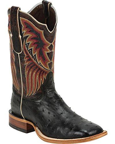 Tony Lama Men's 6080-FQ Ostrich Western Boot,Black,11 D US (Fq Ostrich)