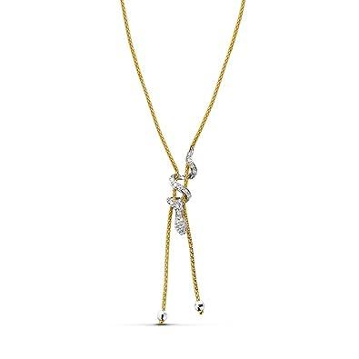 Halskette Damen Kette 18 Karat white) bicolor Snake  Amazon.de  Schmuck b654135af1