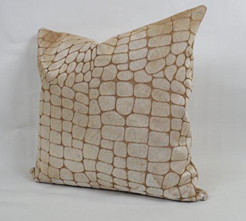 (Furug 20x20 Brazilian Cowhide Pillow - Pebble Beach)