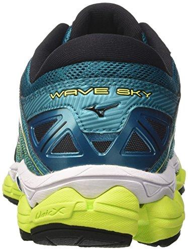 Multicolor Wave De tileblue Sky safetyyellow Running Wos Mizuno Para Mujer Zapatillas silver 8A8qd