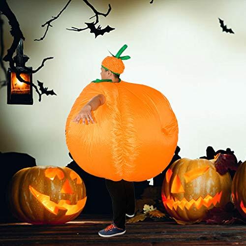 PatyHoll Adult Inflatable Pumpkin Costume Purim Halloween Mascot Fancy Dress for Men Women Carnival]()