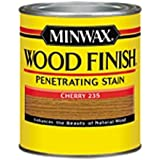 Minwax 223504444  Wood Finish Penetrating Interior Wood Stain, 1/2 pint, Cherry