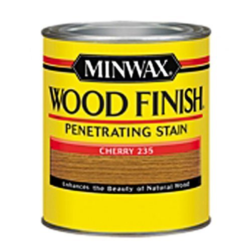 - Minwax 223504444 Wood Finish Penetrating Interior Wood Stain, 1/2 pint, Cherry