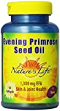 Nature's Life Evening Primrose Seed Oil Softgels, 1300 Mg, 50 Count Review