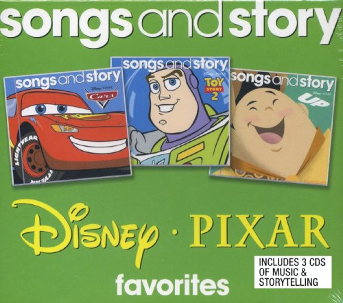 Price comparison product image Disney Pixar Favorites Songs and Story 3 CD Set Includes: Cars,  Toy Story 2,  and Up