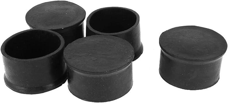 Black Round Rubber Chair Table Feet Furniture Tube Leg End Cover Caps Cap 8~60mm