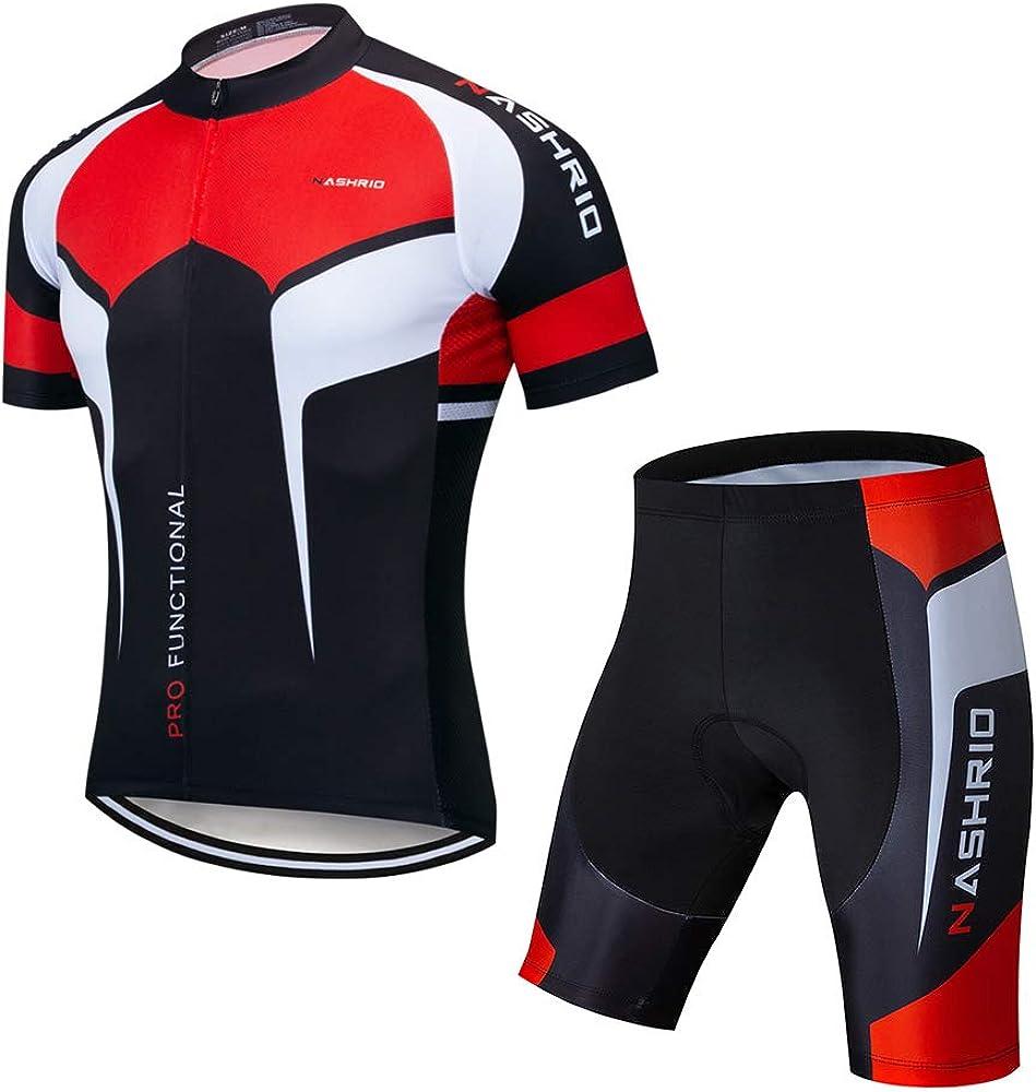Cycling Jersey and Shorts Set Short Sleeve Tops MTB Bike Padded Short Pants