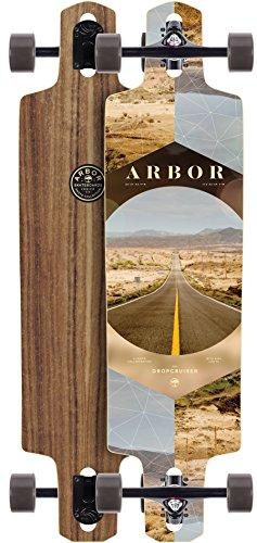 Arbor Dropcruiser PC 2017 Walnut Complete Longboard New Prem