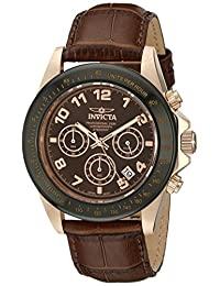 Invicta Men's Speedway Brown Dial Brown Leather Watch INVICTA-10712