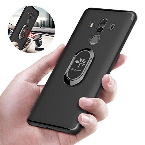 EINFAGOOD Case for Huawei Mate 10 Pro with Metal Ring, Cover for Huawei Mate 10 Pro, Soft TPU Cover Protection Camera, Shockproof, Waterproof, Anti-Sweat, Anti-Fingerprint