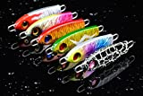 Dorisea Metal Jigs Lures Fishing Jigging Baits Deep Saltwater Spoon Lead Fish Paillette Knife Wobblers Artificial Bass Rigs Hard Spoons (HL1)