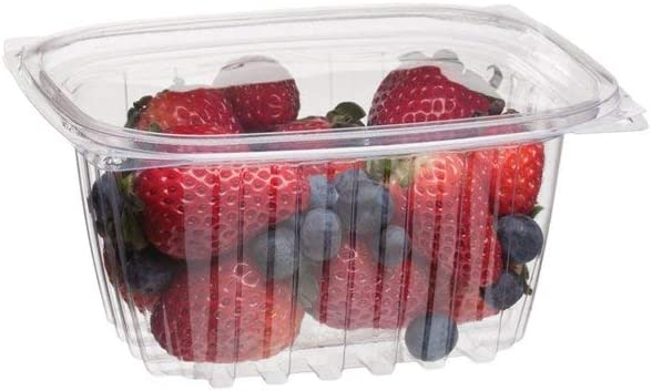 Eco-Products - Renewable & Compostable Rectangular Deli Container with Lid - 16oz. Container - EP-RC16 (Case of 300) [並行輸入品]